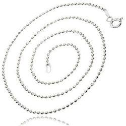 Srebrny łańcuszek kulkowy diamentowany kulki 50 cm srebro 925 FL168