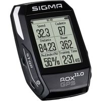 Liczniki rowerowe, SIGMA SPORT ROX 11.0 GPS SET- licznik rowerowy, kolor: Czarny