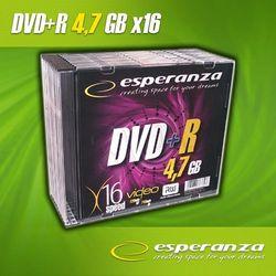 Esperanza DVD+R 4.7GB 16x Slim (10szt.) / DARMOWA DOSTAWA / DARMOWY ODBIÓR OSOBISTY!