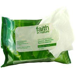 Chusteczki nawilżane do twarzy 3 w 1 - Faith In Nature