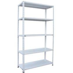 Regał metalowy BR100 100 x 40 x 185 cm 5 półek 100 kg biały