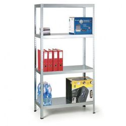 Regał metalowy, 130 kg, 1800x900x400 mm, 5 półek, biały