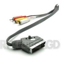 Kable video, Kabel SCART-3xRCA VIVANCO 2m Czarny 47502