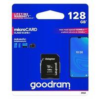 Karty pamięci, GOODRAM Karta pamięci microSDHC 128GB CL10 UHS I + adapter