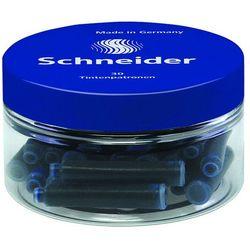 Naboje do piór SCHNEIDER, szklany słoik, 30 szt., niebieski
