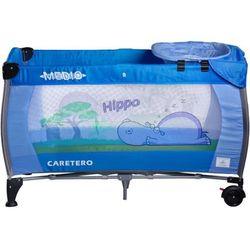 Łóżeczko turystyczne CARETERO Safari Hippo niebieski + DARMOWY TRANSPORT!