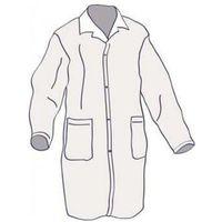 Ubrania medyczne, FARTUCH LABORATORYJNY z włókniny biały L 10szt