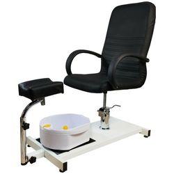 Fotel do pedicure masażerem stóp Kosmetyczny BLACK