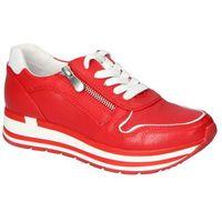 Damskie obuwie sportowe, Sneakersy Marco Tozzi 2-23717-26 Czerwone lico