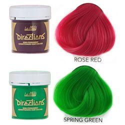 La Riche Directions   Zestaw tonerów koloryzujących: kolor Rose Red 88ml + kolor Spring Green 88ml
