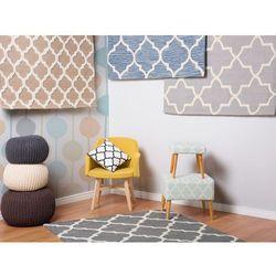Dywan szary - 80x150 cm - nowoczesny - handmade - bawełna - SILVAN