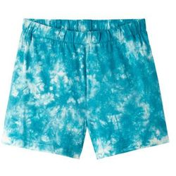 Spódnico-spodnie bonprix biel wełny - ciemnoturkusowy batikowy