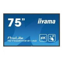 Tablice interaktywne, IIYAMA 75'' TE7568MIS-B1AG INFRARED,4K,IPS,24/7,MULTITOUCH