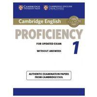 Książki do nauki języka, Cambridge English Proficiency 1 for Updated Exam Student's Book without Answers (opr. miękka)