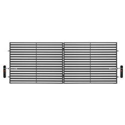 Brama dwuskrzydłowa z automatem Polbram Steel Group Brava 400 x 150 cm