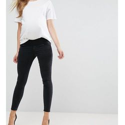 ASOS MATERNITY RIDLEY Skinny Jean In Washed Black with Under The Bump Waistband - Black