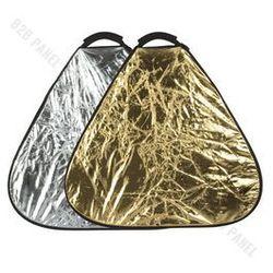 GlareOne Blenda trójkątna 2w1 srebrno złota, 60cm