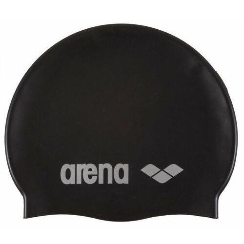 ARENA CZEPEK SILIKONOWY CLASSIC SILICONE BLACK SILVER (3468333887410)