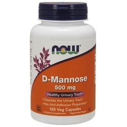Now Foods D-Mannoza 500mg 120 kaps.