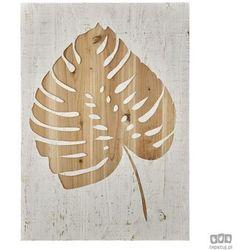 Drewniana dekoracja ścienna Liść monstery dziurawej 103412 Graham&Brown