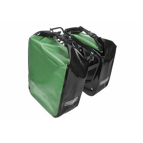 Sakwy, torby i plecaki rowerowe, CO1009.60.86 Sakwy rowerowe Crosso DRY BIG 60l Zielone zestaw na tył