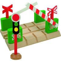 Kolejki i tory dla dzieci, Woody Przejazd kolejowy ze szlabanami - BEZPŁATNY ODBIÓR: WROCŁAW!