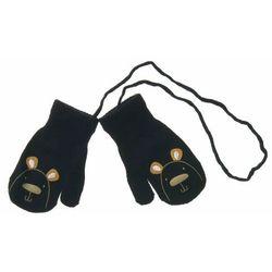 Rękawiczki dla dzieci Scorpio jednopalczaste Miś Granatowe