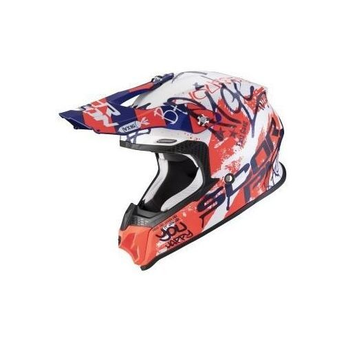 Kaski motocyklowe, SCORPION KASK OFF-ROAD VX16 ORATIO MATT WH-BL-RED