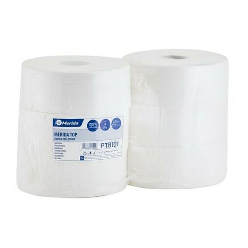 Papier toaletowy, Papier toaletowy Merida Top, 2 warstwy, celuloza - 6 rolek