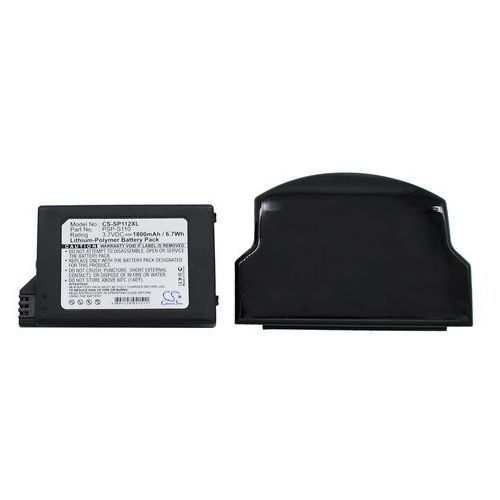 Akcesoria do PSP, Sony PSP-S110 1800mAh 6.66Wh Li-Polymer 3.7V powiększony czarny (Cameron Sino)
