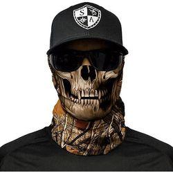 SA Co. Chusta Wielofunkcyjna Face Shield™ Forest Camo Skull - Forest Camo Skull