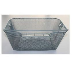 Kosz na tylny bagażnik BASIL BASKET-4 Bottom hooks, stalowy srebrny