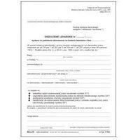 Druki akcydensowe, Orzeczenie lekarskie o niezdolności do pracy [Mz/Lp-26]