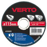 Tarcze ścierne, Tarcza do szlifowania VERTO 61H455 115 x 6.0 x 22.2 mm do metalu