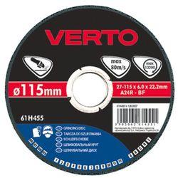 Tarcza do szlifowania VERTO 61H455 115 x 6.0 x 22.2 mm do metalu
