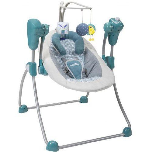 Leżaczki, BABYMOOV Bujaczek Bubble Swing Zinc – niebieski