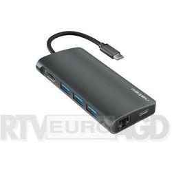 NATEC Multi Port Fowler 2 USB-C PD, 3x USB 3.0, HDMI 4K, RJ45, USB-C, SD, micro SD