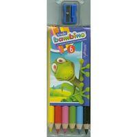 Kredki, Kredki 6 kolorów + temperówka Bambino