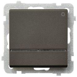 Przycisk światło Ospel Sonata ŁP-5RS/M/40 10AX z podświetleniem IP20 czekoladowy metalik