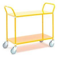 Wózki widłowe i paletowe, Wózek TRANSIT, z półkami, 2 półki, 900x440 mm, żółty