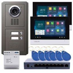 Leelen LEELEN Wideodomofon TCPIP 2-rodzinny, czarny 7cali dotykowy ekran / pamięć / czytnik No8pc2-2xV31-set - Rabaty za ilości. Szybka wysyłka. Profesjonalna pomoc techniczna.