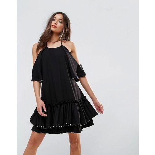 Suknie i sukienki, Talulah Edwardian Mini Dress - Black