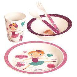 BINO Bambusowe naczynia dla niemowląt, zestaw, 5 sztuk, Dancer