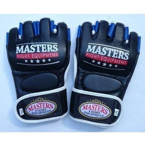 Rękawice do walki, Rękawice MASTERS do MMA GF-30A NOWOŚĆ!!! - czarno-niebiesko-biały