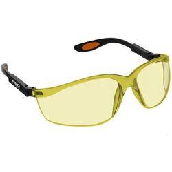 NEO 97-501 Okulary ochronne poliwęglanowe, żółte soczewki