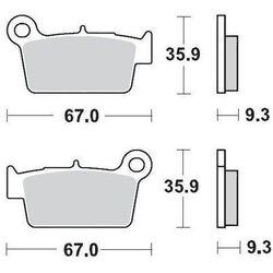 KLOCKI HAMULCOWE KH367 METALICZNE: 11 YAMAHA YZ/WR '03 MOTO-MASTER M094511