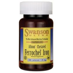 Swanson Albion Chelated Iron (Chela Ferr) 18mg 180 kaps.
