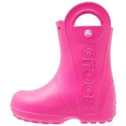 Crocs HANDLE IT RAIN BOOT KIDS Kalosze candy pink Przy złożeniu zamówienia do godziny 16 ( od Pon. do Pt., wszystkie metody płatności z wyjątkiem przelewu bankowego), wysyłka odbędzie się tego samego dnia.
