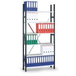 Regał archiwalny Variant, 2910x1000x300 mm, szare półki, podstawowy