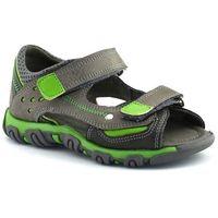 Sandały dziecięce, Sandały dla dzieci Kornecki 06189 - Zielony ||Szary